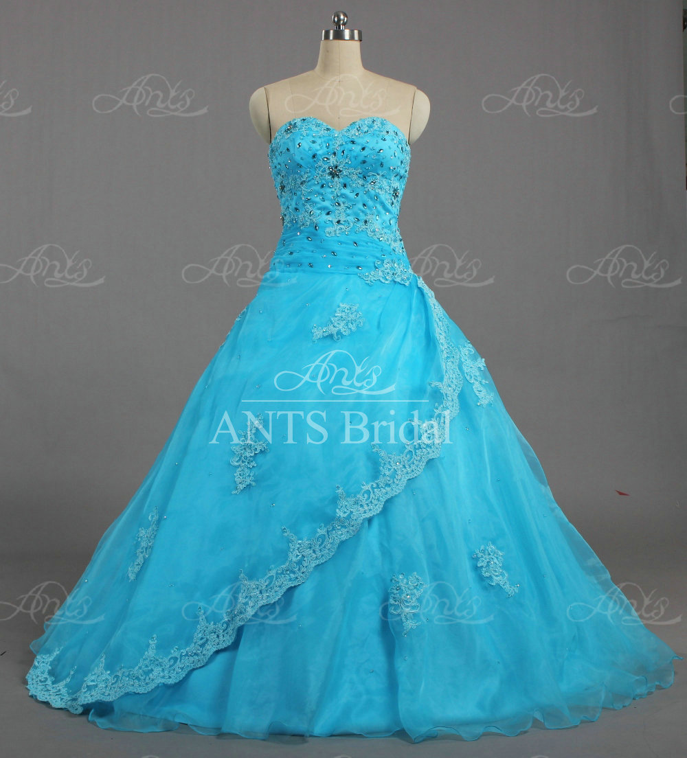 E1750 Women Formal Bead Lace Overlay Organza Long Ball Gown Prom Dresses 2016(China (Mainland))