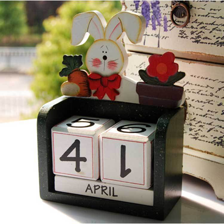 Time limited Calendar Rack Zakka Wood Craft European