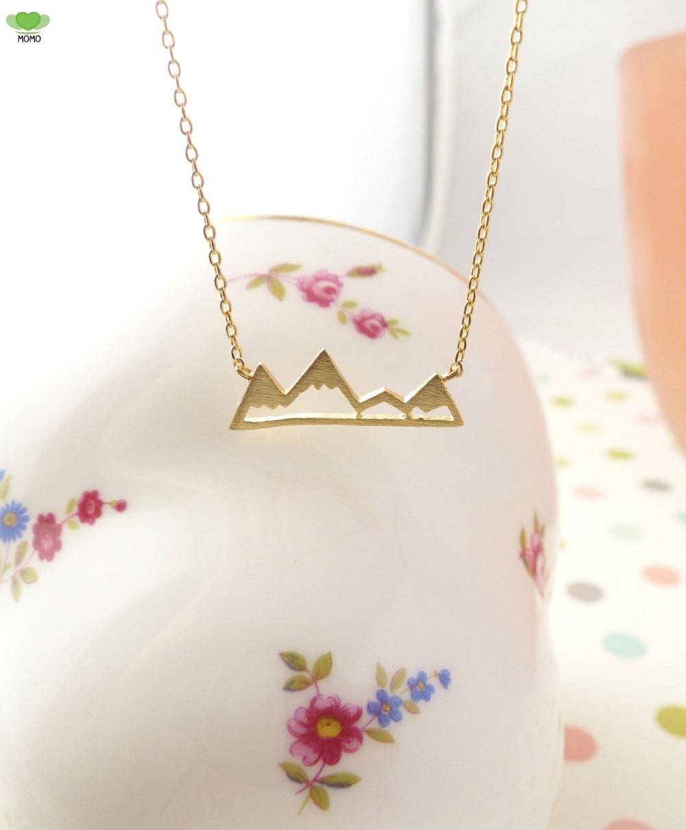 back to school winter Snowy Unique Pendant Mountain necklace Necklaces & Pendants for birthday present(China (Mainland))