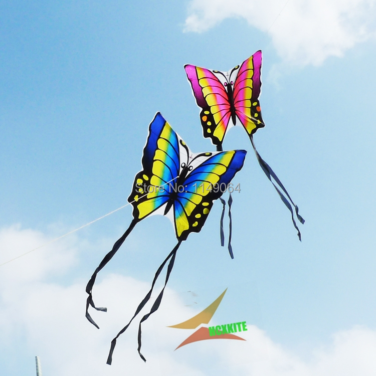 free shipping high quality lober butterfly kite 2pcs/lot with hand line hcxkites factory easy contrl ripstop nylon birds eagle(China (Mainland))