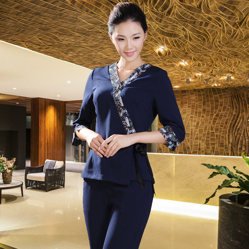 Popular thai spa uniform buy cheap thai spa uniform lots for Spa uniform indonesia