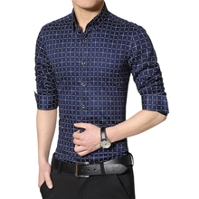 Buy Plus Size Mens 5XL 2016 Brand New Mens Casual Plaid Shirt Long Sleeve Plaid Slim Fit Checkered Shirt Mens Clothing Fashion for $13.79 in AliExpress store