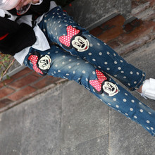 children's clothing 2016 spring and autumn 3-14year fashion style girl Jeans,children pants(China (Mainland))