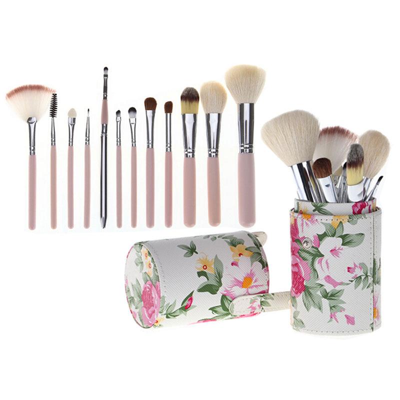 12PCS Profesional Makeup Brush Set Kit Cosmetic Tools Kabuki Eyebrow Eye Shadow Blending Foundation Blush Powder Make Up Brushes(China (Mainland))