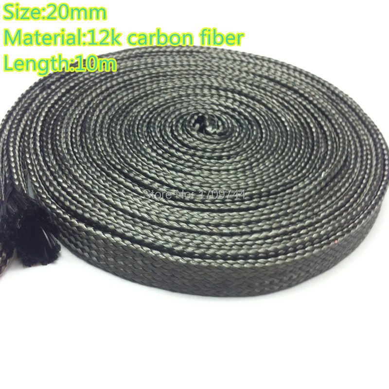 Free shipping factory price direct 20MM12K carbon fiber casing pipe can be extended 10 m cable sleeve(China (Mainland))