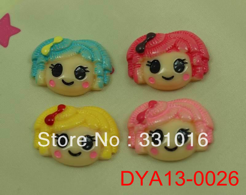 STOCK! 30pcs Cute Lalaloopsy Crown Resin Cabochons Flatbacks For Hair Phone Home Crafts Embellishments DIY 4 Colors Mix(China (Mainland))