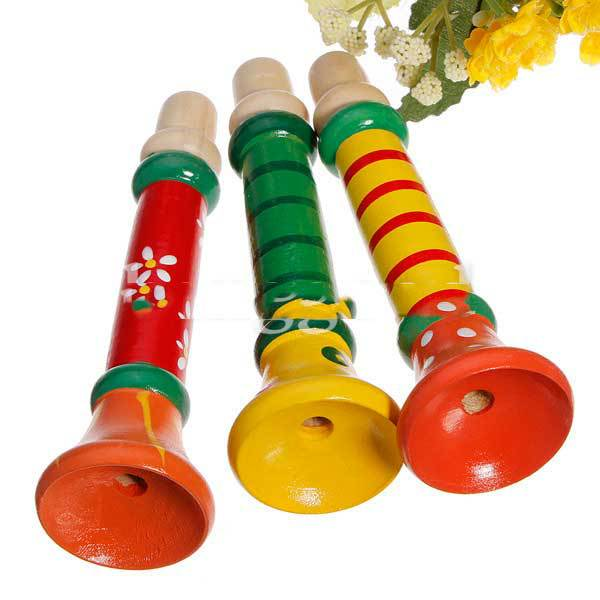 Hammonton Baby Musical Wooden Trumpet Child Instruments Toy(China (Mainland))