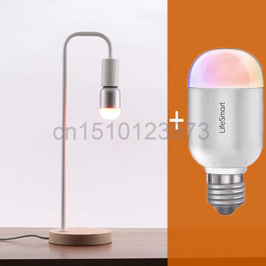 Lifesmart Smart Table Lamp Light Bulb E27 6W RGB Wireless Bluetooth 4.0 Control Home Automation System Shake Music Dimming(China (Mainland))