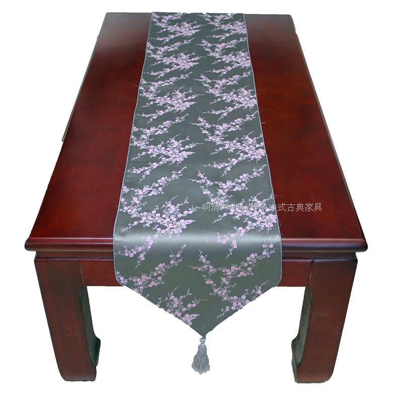 00*33cm Noble Vintage Luxurious Handmade Brocade 4 colors Plum Table Runner Cloth& Bed Flag(China (Mainland))