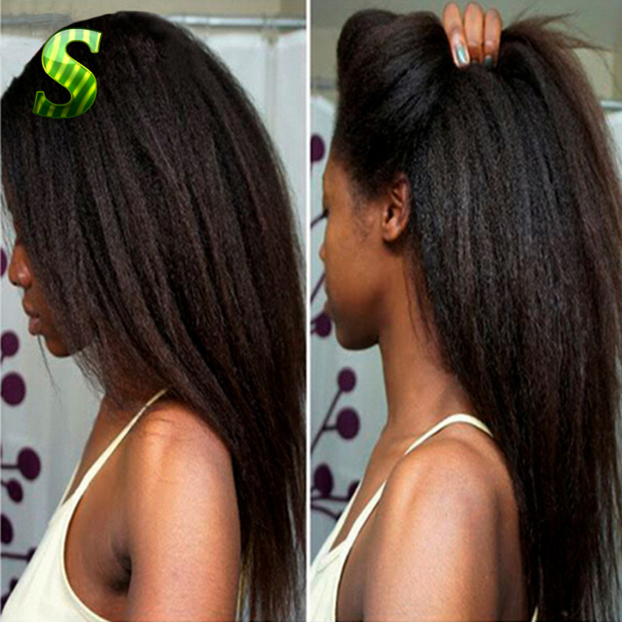 7A Top Kinky Straight Full lace Wigs Glueless Lace Human Hair Baby Brazilian Virgin - Ms Sexy store