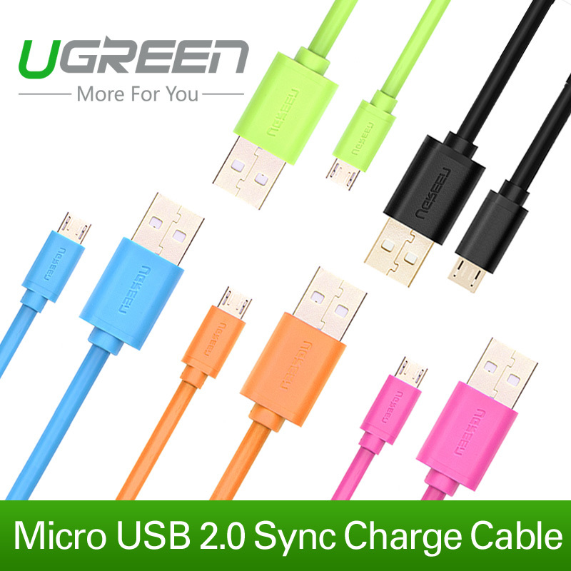 Ugreen Micro USB Cable 1m 1.5m 2m 3m Sync Data Cable 5V2A USB charger cable for Samsung Galaxy S3 S4 Note 2 3 LG Xiaomi Android(China (Mainland))