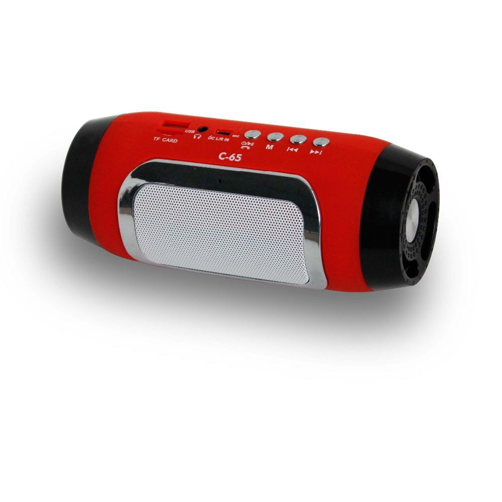 2015 New C 65 Bluetooth Speaker Mini Stereo Radio Speakers Wireless Portable Audio MP3 Player