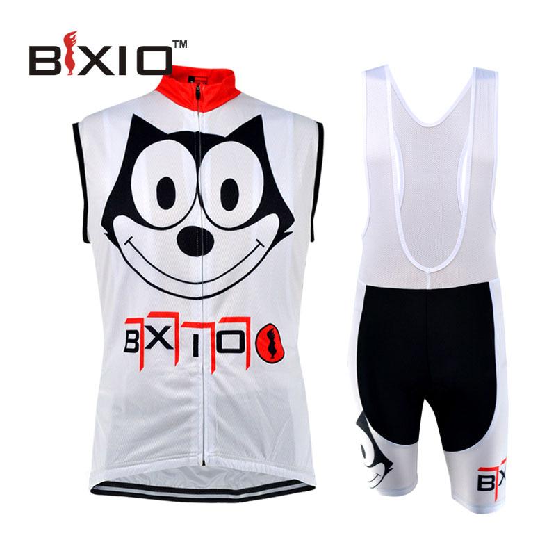 BXIO Funny Cycling Jerseys Roupa Ciclismo Camisa De Futebol Boys Cycling Clothes Sleeveless Bike Clothing Sets BX-0309W082(China (Mainland))