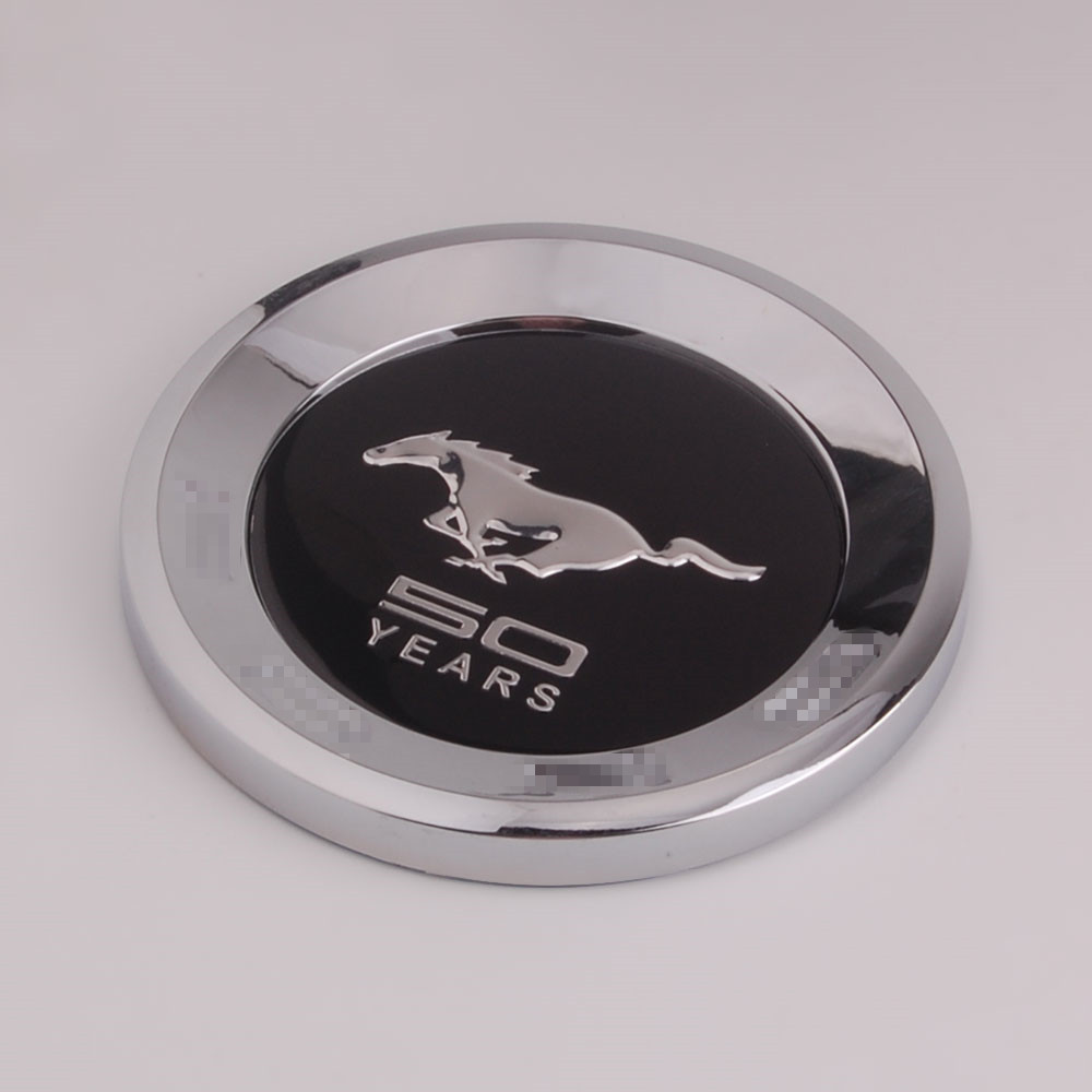 Black Running Horse Pony 50 YEARS Trunk Rear Tail Decal Deck lid Emblem Badge Sticker Fit for Mustang Shelby GT500(China (Mainland))
