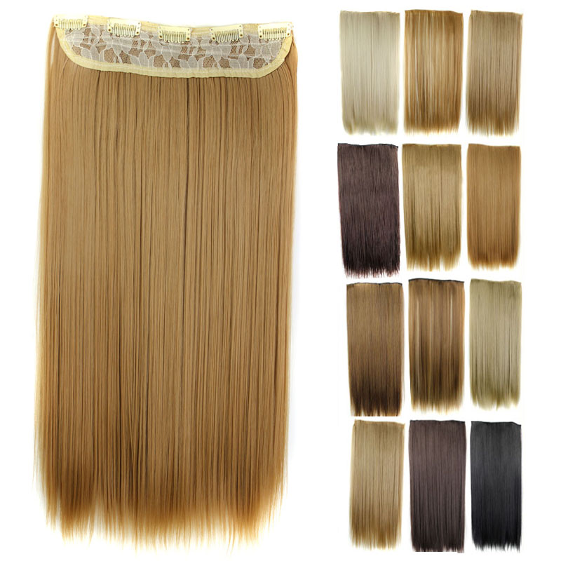 """Гаджет  Multi colors Avaliable 1Pcs 23""""/58cm 120g  Synthetic Hairpieces Clip In Hair Extension Heat Resistant Fiber In Hair Extension  None Волосы и аксессуары"""
