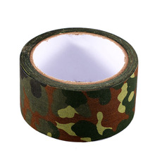 Outdoor Camouflage 10m Adhesive Tape Army Camo Wrap Hunting Shooting Tool Stealth Tape for Hiking Camping(China (Mainland))