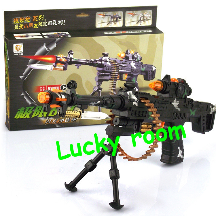 Fashion 59CM Electric Music Toy Machine Guns Children's/Boy's Gift Military model