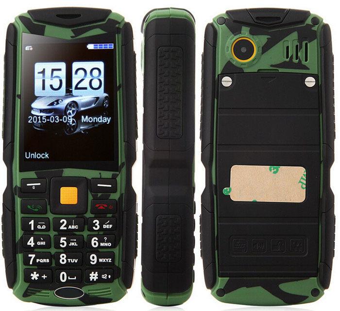 Original Tengda M12 Waterproof Shockproof Dustproof Mobile Phone MTK6225 2200mAh 1.3Mp Three Sim Card Outdoor Phone In Stock(China (Mainland))