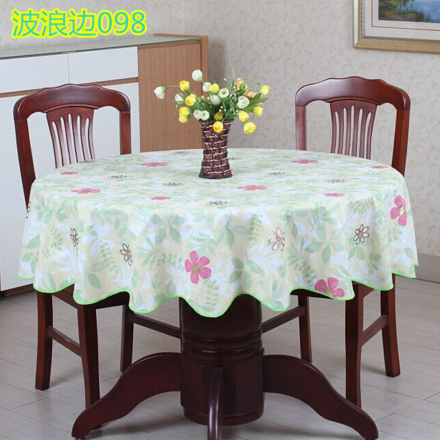 2016New PVC Plastic Thickened Round Tablecloths Waterproof Oilproof No Clean Tablecover Pastoral Style 098(China (Mainland))