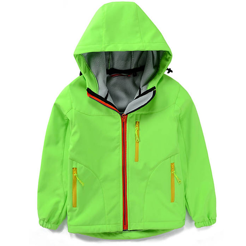 2016 autumn and winter soft shell coat thickening hood Ski big yard boy and gril windproof waterproof outdoor hiking jacket(China (Mainland))