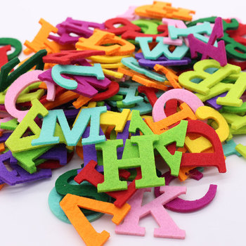 26PCS Alphabet Felt Cloth Letter Felt Fabric Polyester Fabrics Needlework Diy Needle Sewing Handmade Fieltro Feltro Entretela