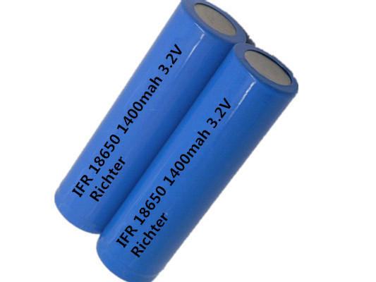 Richter Brand IFR Rechargeable Battery 18650 1400mah 3 2V flat head for Consumer Electronics