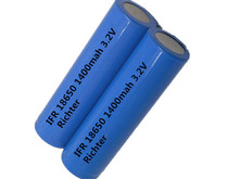 Richter Brand IFR Rechargeable Battery 18650 -1400mah -3.2V flat head  for Consumer Electronics
