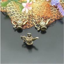 Alloy teapot charms pot pendants 10pcs 20 * 22 mm jewelry accessories Free shipping Wholesale(China (Mainland))