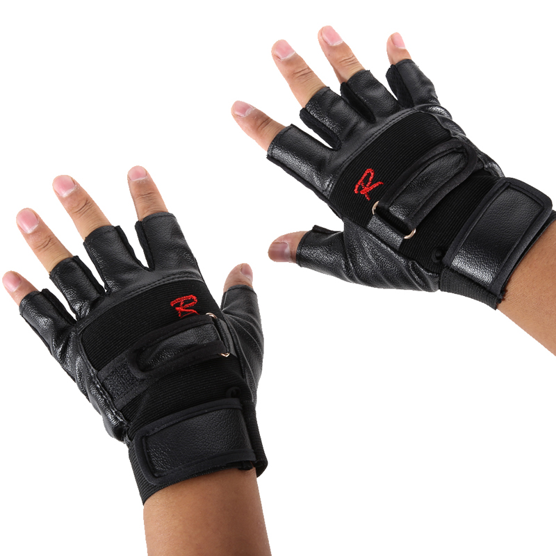 Pro Weight Lifting Gym Cycling Gloves Exercise Sport Fitness Sports Bike Leather Motorcycle Gloves BHU2(China (Mainland))