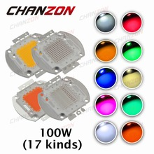 High Power LED Chip 100W Natural Cool Warm White Red Blue Green UV RGB IR Full Spectrum Grow Light Beads 100 W for Floodlight(China (Mainland))