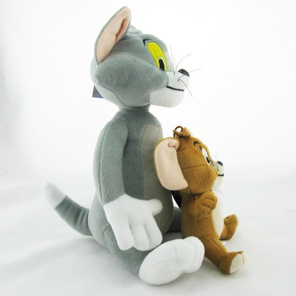 2pcs-lot-Baby-Toys-Cat-Tom-And-Jerry-Mouse-Plush-Stuffed-Toys-soft-Dolls-Boneca-Pelucia (2)