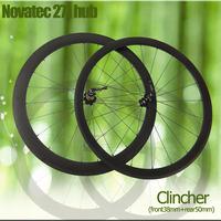 FREE SHIPPING 38mm front 50mm rear clincher carbon wheels bike wheelset  Carbon fiber road Racing carbon  wheelset