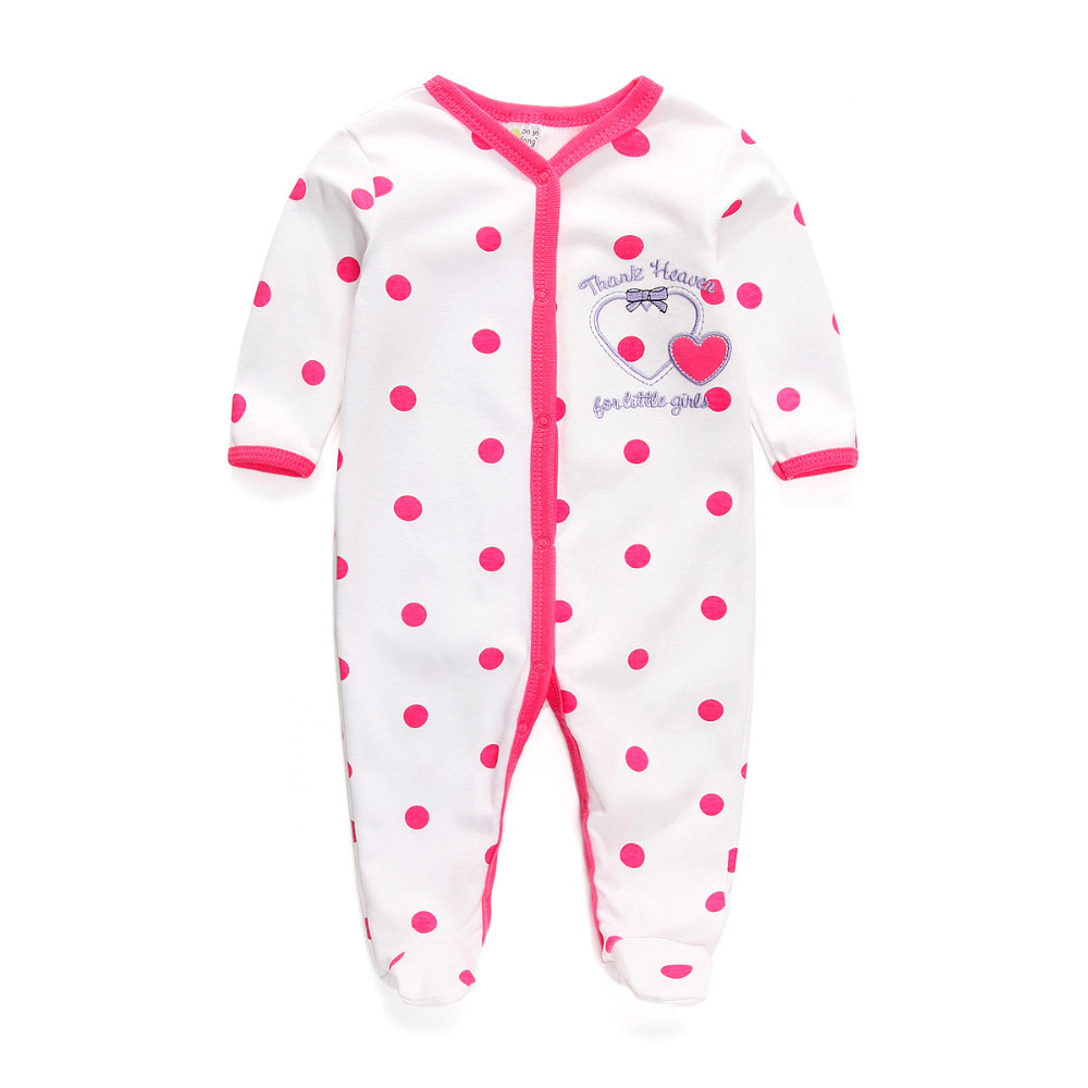 Free Shipping Kids Sleepwear Pajamas Baby Girl Boy Clothes Newborn Unisex Baby Rompers Long Sleeve Cotton Pajamas(China (Mainland))