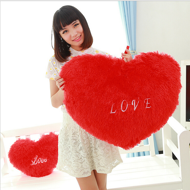 2015 New Hot Rose Velvet Peach Heart Plush Pillow for Girl Valentine's Day Soft Cushion Kids Toy Creative Juguetes Brinquedos(China (Mainland))