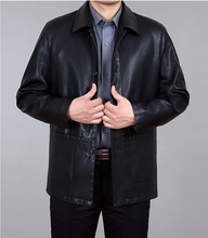 Free shipping in the spring and autumn 2015 new men leather coat of cultivate one's morality, men's fashion leather jacket,M-4XL