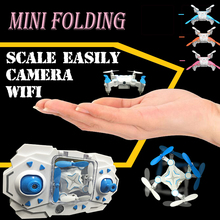 The newest wifi WiFi phone to watch folding RC mini drone with camera quadcopter with camera 6 channels High-definition aerial