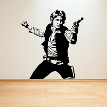 Buy STAR WARS HAN SOLO vinyl wall art decal sticker room decal sci-fi movie Art poster Living Room Bedroom Wall Decoration Mural 514 for $10.64 in AliExpress store