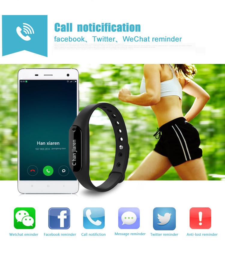 Smart Bluetooth Браслет Умный Браслет Монитор Сердечного ритма Браслет Фитнес-Трекер Шагомер Smartband для Android iOS Iphone