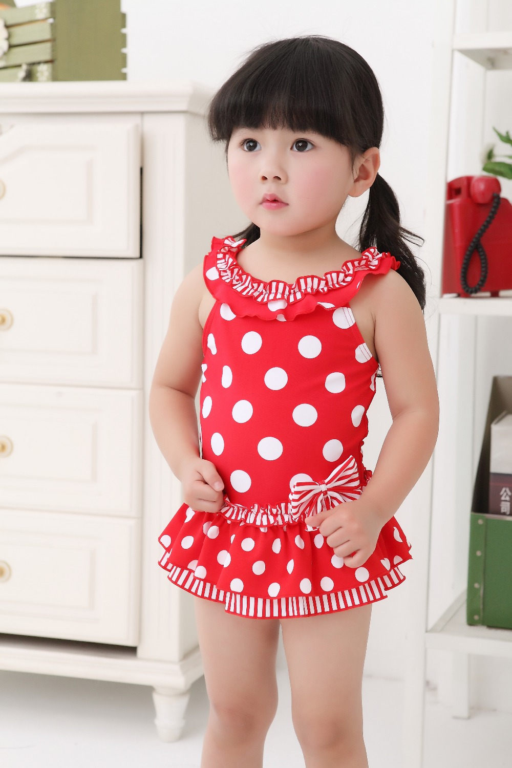 2016 polka dot lace  swimsuit summer young girl hot sale swimwear SW233 10pcs/lot DHL free<br><br>Aliexpress
