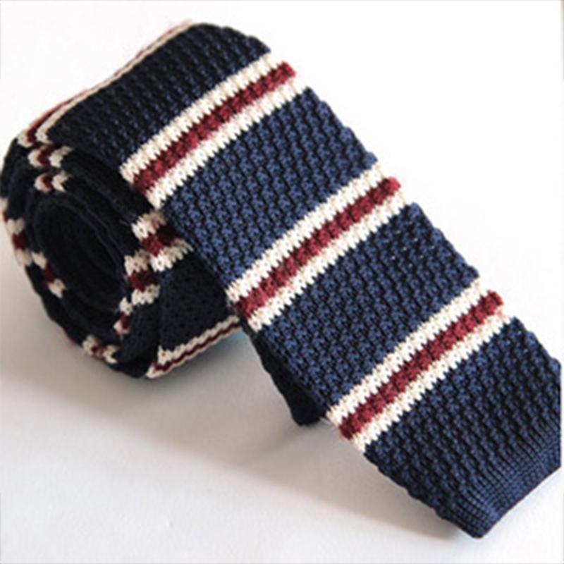 Men's England Wool Knit Necktie Ties for Men Wedding Party 5cm Stripes Printed Skinny Knitted Neck Tie Gravatas Vestidos Cravat(China (Mainland))