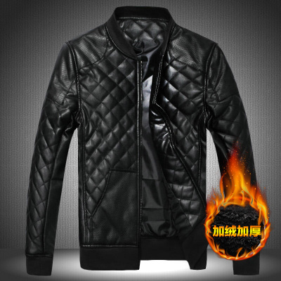 Free shipping winter PU leather jacket male plus size 5xl 6xl stand collar thickening outerwear short