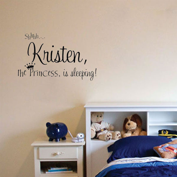 Personalized Princess Name Cute Decor Vinyl Wall Decal Inspiration Sticky Sticker Choose Name&Colors Vinyl Decal Home Decor