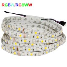 5050 RGB Led Strip RGBW RGBWW 5050 LED Strip Light 12V 60LED/M RGB+White RGB+Warm White Led Tape Decoration Lighting(China (Mainland))