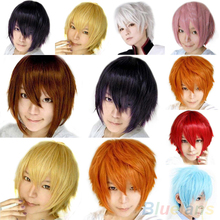 Fashion Short Wig Cosplay Party Costume Straight Wigs Full Wig Cap 4MYL(China (Mainland))