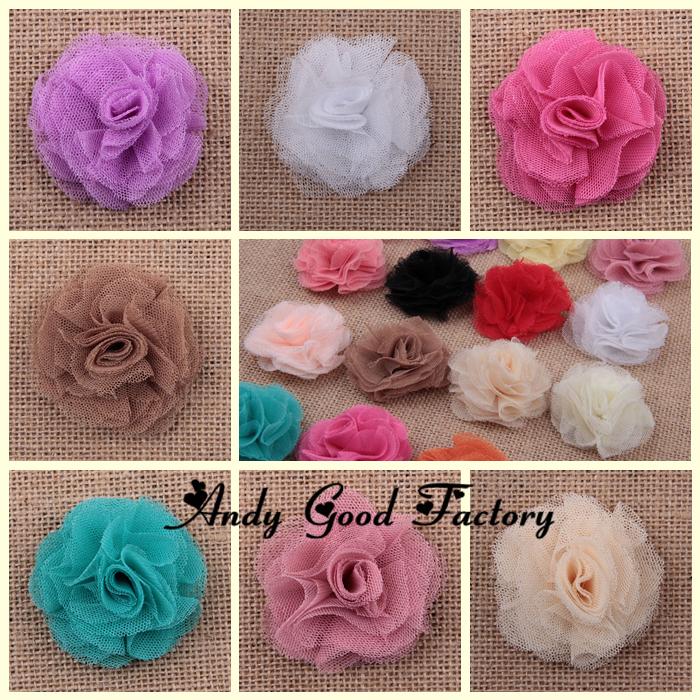 Wholesale 200pcs 2.4 Mini Artificial Mesh Hair Flowers Tulle Crochet Flower for Baby Girls Headband Kids Hair Accessories FL093<br><br>Aliexpress