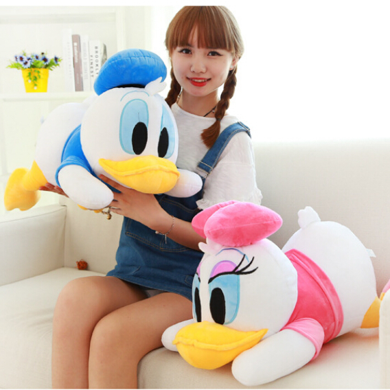 New Arrival 28cm Staffed Animal Toys Dolls Soft Cute Lying Donald Duck Plush Toys Mickey Minnie Gifts for KIds Girls(China (Mainland))