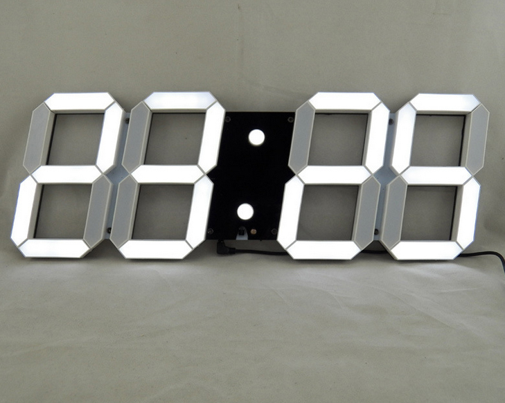 Horloge murale digitale led for Pendule contemporaine