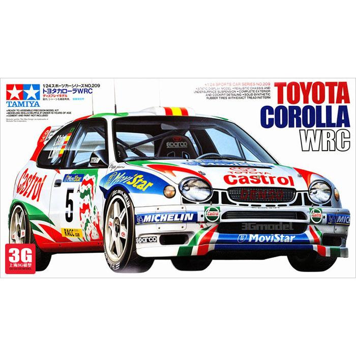 Tamiya model cars 24209 1/24 TOYOTA COROLLA WRC Toyota MD(China (Mainland))