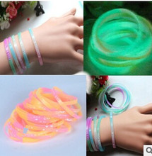 Fashion Luminous Color Fluorescent Color Soft Rubber Silicone Bracelet  For All Of  People of  B52(China (Mainland))