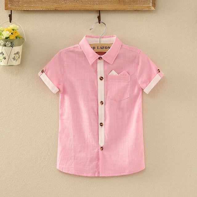Летом стиль дети мальчики бренд блузка рубашка Высокое качество хлопка с коротким ...